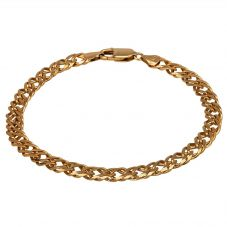 """Second Hand 9ct Yellow Gold 8"""" Double Curb Chain Bracelet HGM15/02/26(11/18)"""