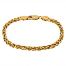 """Second Hand 9ct Yellow Gold 7"""" Spiga Chain Bracelet HGM23/02/02(02/19)"""