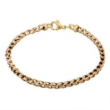 """Second Hand 9ct Yellow Gold 7"""" Loose Foxtail Chain Bracelet HGM23/02/07(02/19)"""
