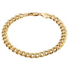 Second Hand 9ct Yellow Gold 7.5 Inch Hollow Curb Bracelet HGM25/02/03(03/19)