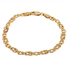 Second Hand 9ct Yellow Gold 7.5 Inch Celtic Curb Bracelet HGM25/02/09(03/19)
