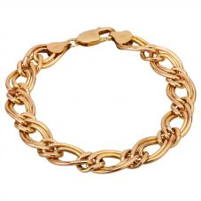 Second Hand 9ct Yellow Gold 7.5 Inch Double Figaro Bracelet HGM25/02/11(03/19)