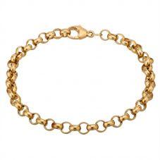 Second Hand 9ct Yellow Gold 7 Inch Round Belcher Bracelet HGM25/02/13(03/19)