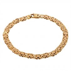 Second Hand 9ct Yellow Gold 7.5 Inch Byzantine Bracelet HGM25/01/08(03/19)