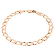 """Second Hand 9ct Yellow Gold 8"""" Flat Curb Chain Bracelet D516481(450)"""