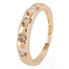Second Hand 14ct Yellow Gold Four Stone Diamond Ring 4111410