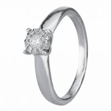Second Hand 9ct White Gold Diamond Cluster Ring 4111669