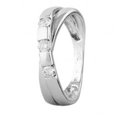 Second Hand 0.20ct Diamond Crossover Twist Ring 4111922