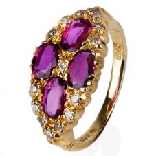 Second Hand 18ct Yellow Gold Ruby and Diamond Ring 4112044