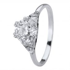 Second Hand 1.32ct Old Cut Diamond Solitaire Ring 4112345