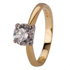 Second Hand 18ct Yellow Gold Diamond Solitaire Ring 4112382