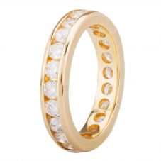 Second Hand 18ct Yellow Gold Diamond Full Eternity Ring 4112394