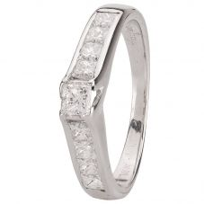 Second Hand 18ct White Gold Diamond Single Stone Ring 4112400