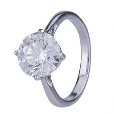 Second Hand 3.12ct Round Diamond Solitaire Ring 4112475
