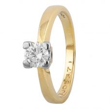 Second Hand 18ct Yellow Gold 0.41ct Diamond Solitaire Ring 4112485