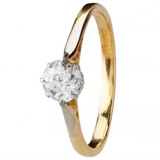 Second Hand 18ct Yellow Gold Diamond Solitaire Ring 4112531