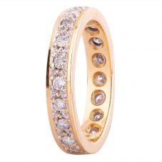 Second Hand 18ct Yellow Gold 0.50ct Diamond Full Eternity Ring 4112549
