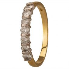 Second Hand 18ct Yellow Gold 0.50ct Half Eternity Ring A511611(441)