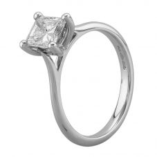 Second Hand Platinum 0.92ct Radiant Cut Diamond Solitaire Ring A511614(441)