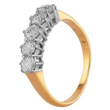 Second Hand 18ct Yellow Gold 0.95ct Diamond Five Stone Ring A511621(445)