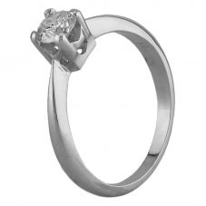 Second Hand 18ct White Gold 0.38ct Diamond Solitaire Ring N516946(449)