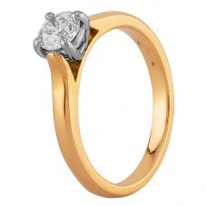 Second Hand 18ct Yellow Gold 0.75ct Diamond Solitaire Ring J511164(449)