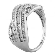 Second Hand White Gold Multi-Row 0.50ct Diamond Twist Ring D516476(450)