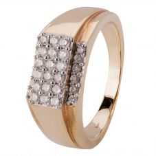 Second Hand Mens Diamond Signet Ring 4115430