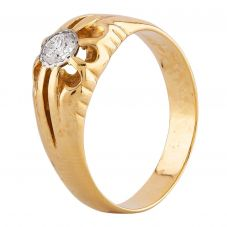 Second Hand Yellow Gold 0.25ct Diamond Solitaire Ring LOT716(11/17)