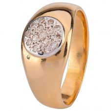 Second Hand Mens Diamond Set Cluster Signet Ring 4115466