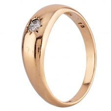 Second Hand 9ct Yellow Gold Diamond Solitaire Ring R4913929445)