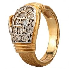 Second Hand 9ct Yellow Gold Boxing Glove Ring HGM22/02/19(02/19)