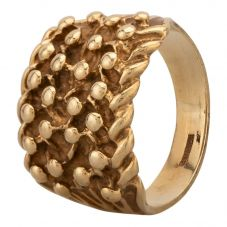 Second Hand 9ct Yellow Gold Four Row Keeper Ring HGM 24/03/28(03/19)