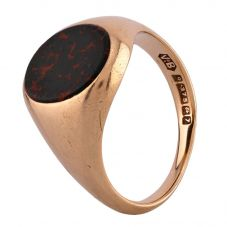 Second Hand 9ct Yellow Gold Bloodstone Signet Ring D516463(448)