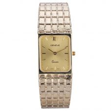 Second Hand Geneve 9ct Yellow Gold Rectangular Bracelet Watch 4410046