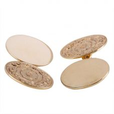 Second Hand 9ct Yellow Gold Patterned Cufflinks 4119495