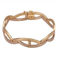 Second Hand 9ct Two Colour Gold Interweaving Hinged Bangle A511610(441)