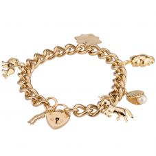 Second Hand 9ct Yellow Gold Charms and Charm Bracelet 4123845