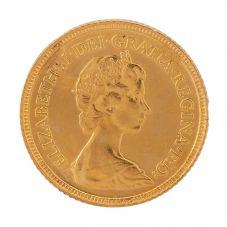 Second Hand 22ct Yellow Gold 1982 Queen Elizabeth Half Sovereign Coin R.458303(393)