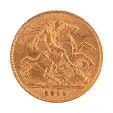 Second Hand 22ct Yellow Gold 1911 King George Half Sovereign Coin 4130125
