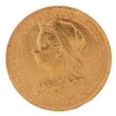 Second Hand 22ct Yellow Gold 1897 Queen Victoria Half Sovereign Coin ELM(106706)18/4/19