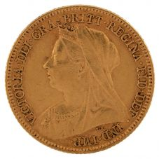 Second Hand 22ct Yellow Gold 1898 Queen Victoria Half Sovereign Coin ELM(106706)18/4/19