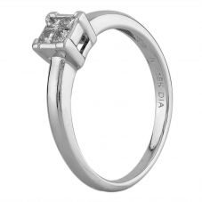 Second Hand White Gold 0.20ct Princess Cut Diamond Quad Cluster Ring G607007(447)