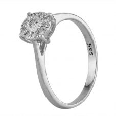 Second Hand White Gold Diamond Halo Ring F606019(446)