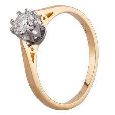Second Hand 18ct Yellow Gold 0.33ct Diamond Solitaire Ring D516434(448)