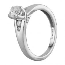 Second Hand 9ct White Gold 0.40ct Diamond Ring D516438(448)