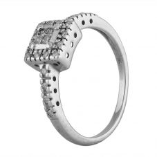 Second Hand 9ct White Gold 0.30ct Multi-Cut Diamond Square Cluster Ring J511158(450)