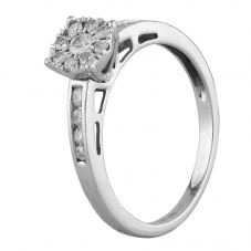 Second Hand 9ct White Gold Diamond Cluster Ring J511161(450)