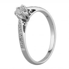 Second Hand 9ct White Gold 0.25ct Diamond Ring D73518(450)