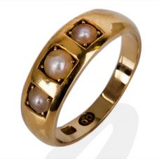 Second Hand Three Stone Pearl Ring 4141433